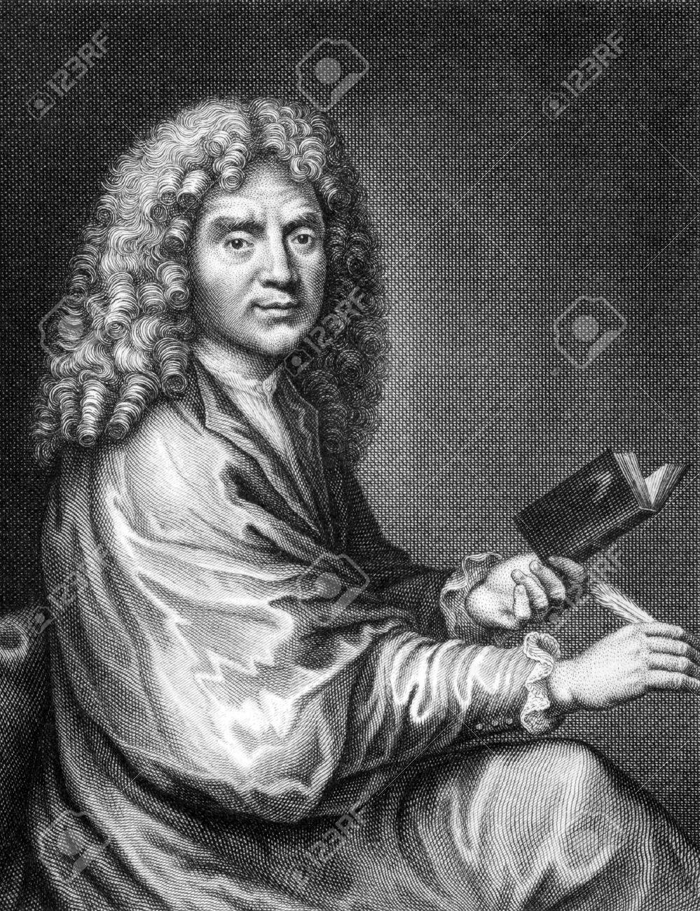 Moliere (1622-1676) on engraving from 1859. French playwright and actor,