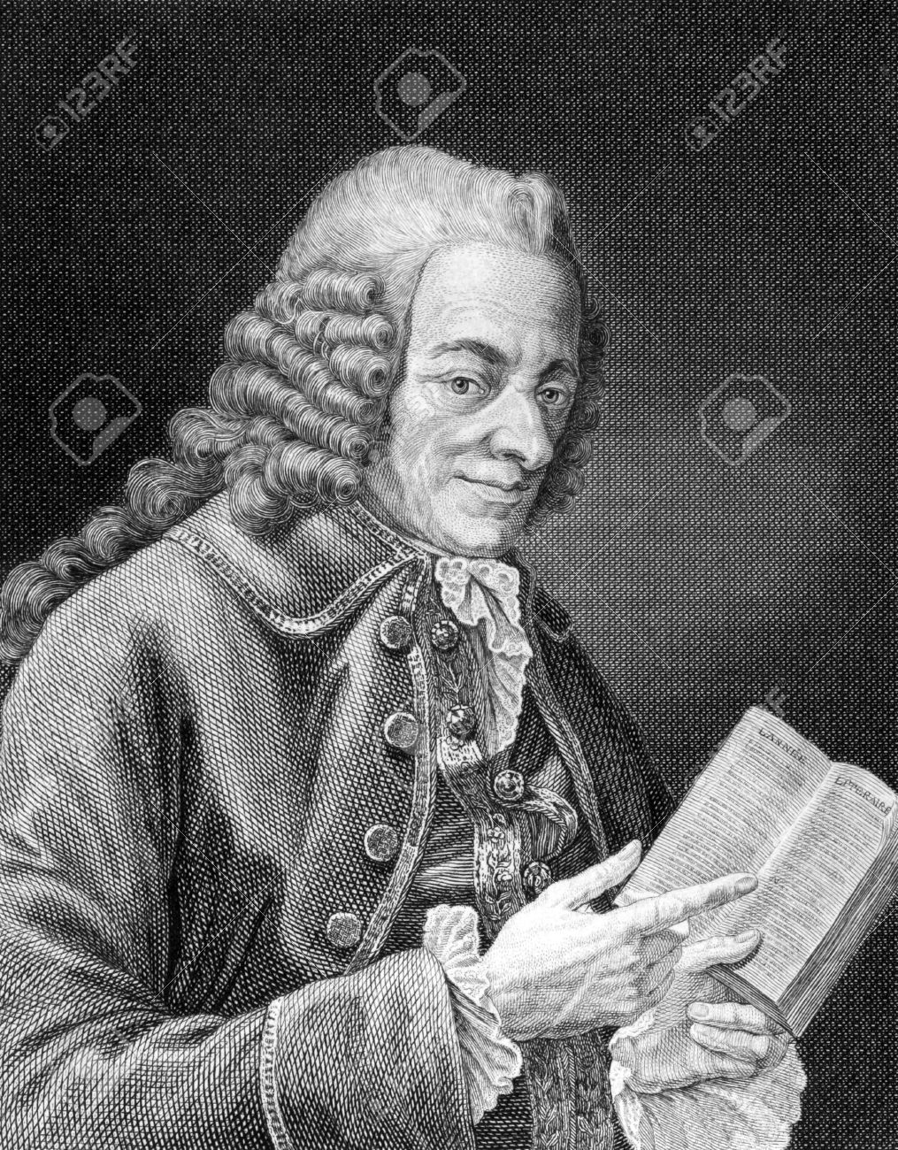 Voltaire (1694-1778) On Engraving From 1859. French Enlightenment ...