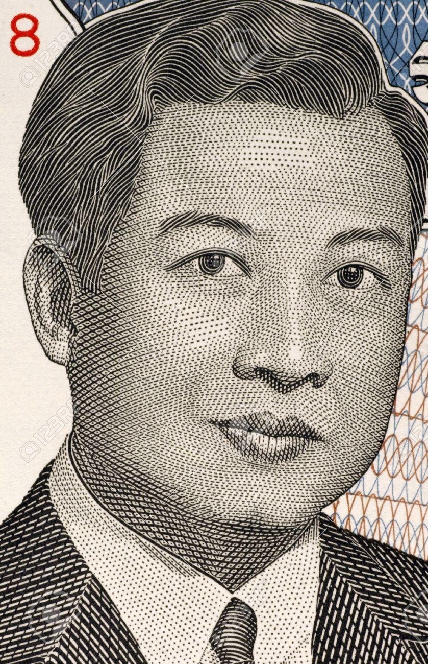 ノロドム ・ シアヌーク前カンボジアのカンボジアの王から 2000 リエル ...