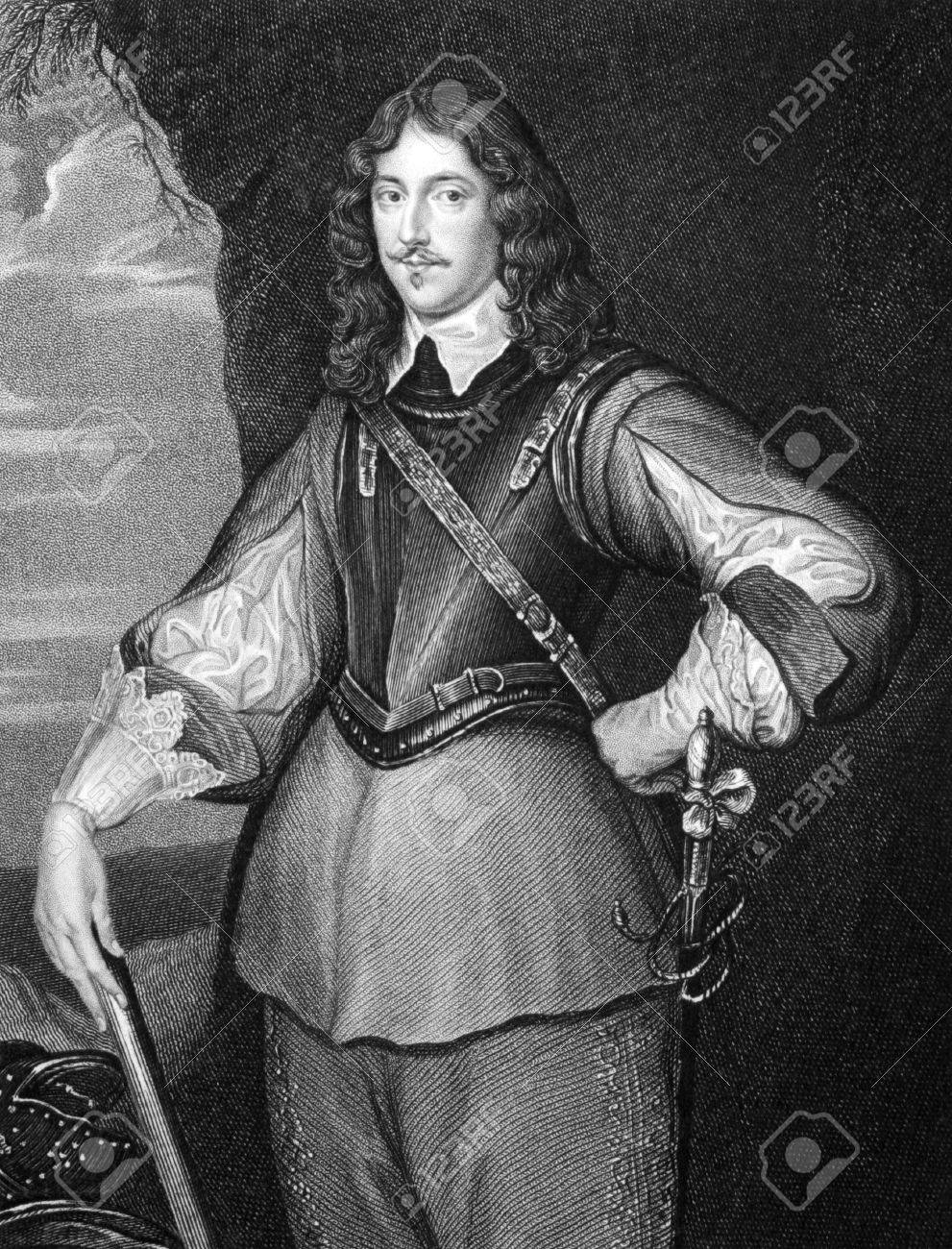 Montagu Bertie, 2nd Earl of Lindsey (1608-1666) on engraving from 1827