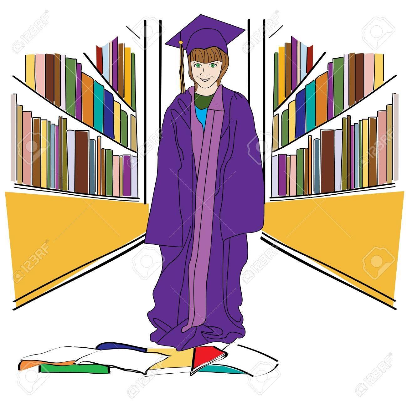 Graduation Girl Stock Vector - 13324594