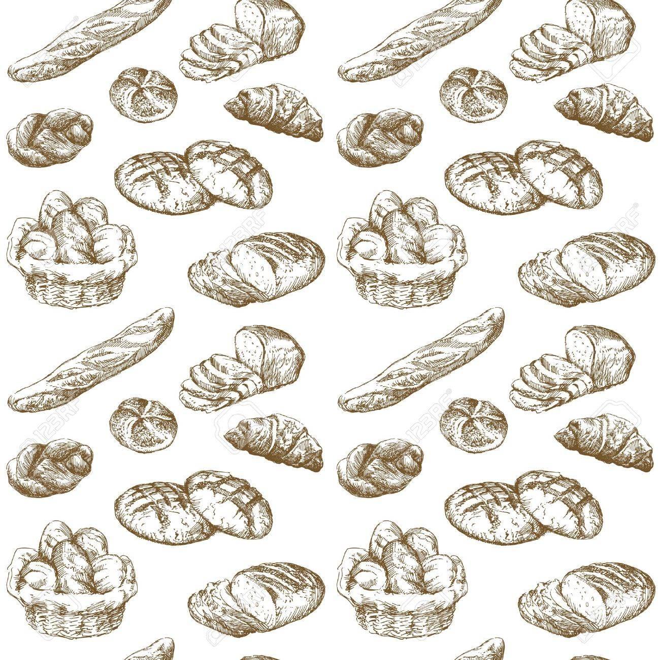 bread - seamless pattern Stock Vector - 13341349