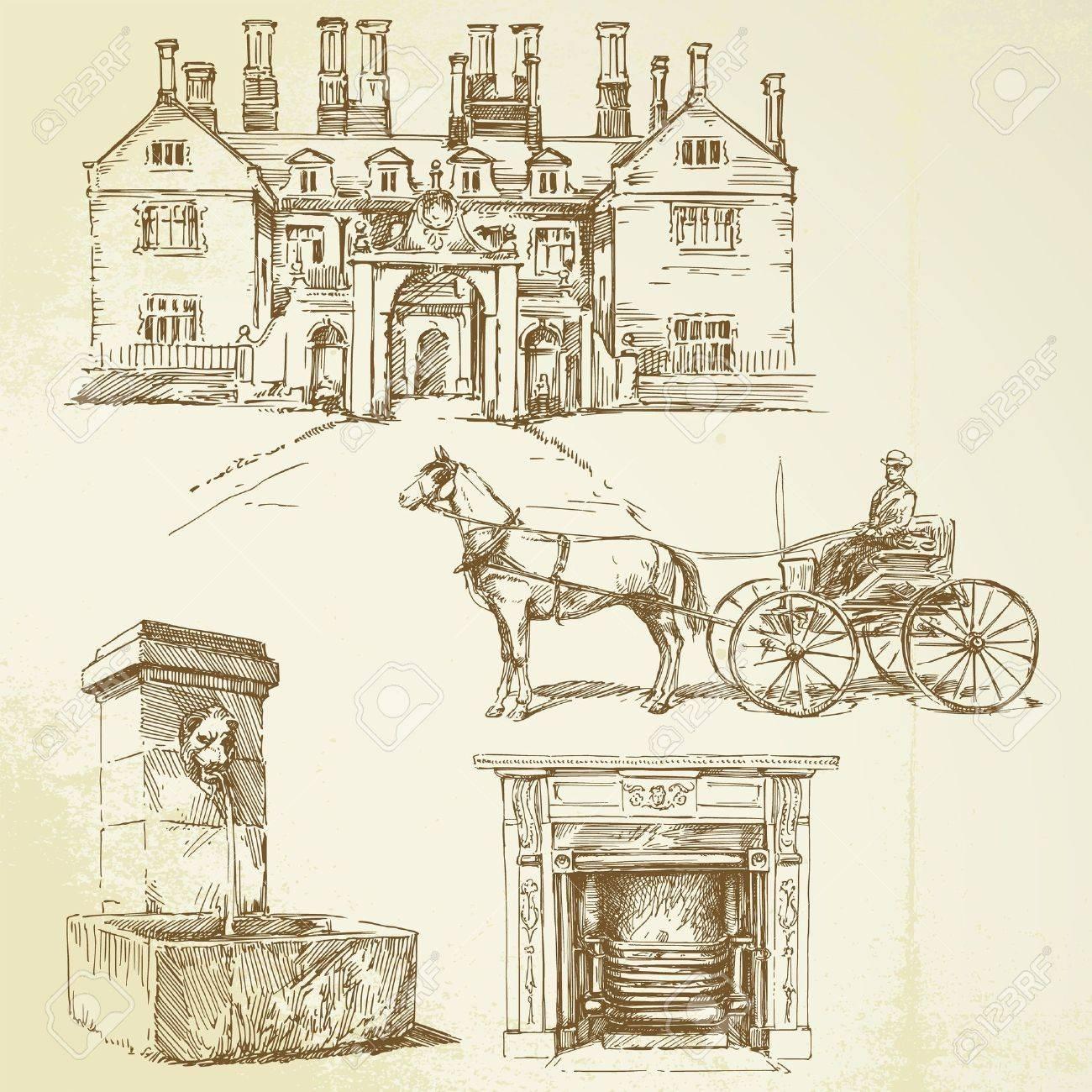 victorian england - hand drawn Stock Vector - 13479856