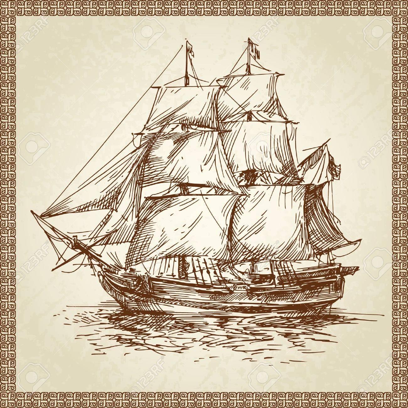 sailing ship Stock Vector - 13843694