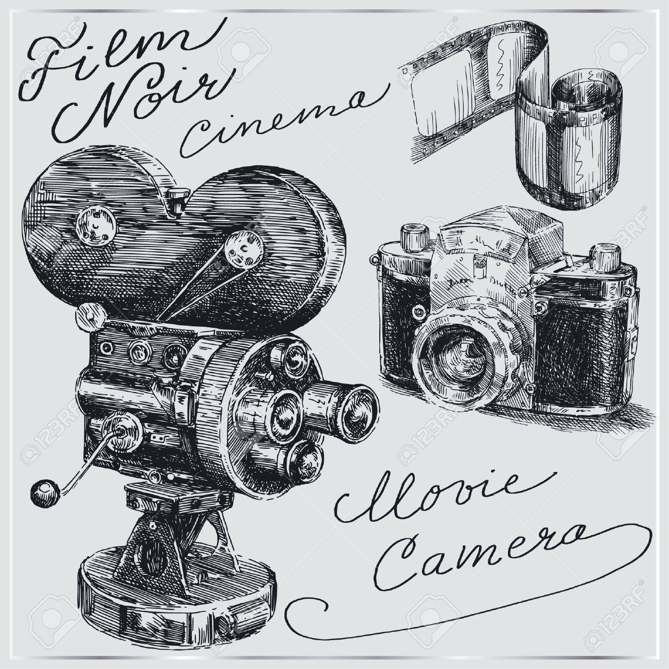 hand drawn cameras Stock Vector - 14016661