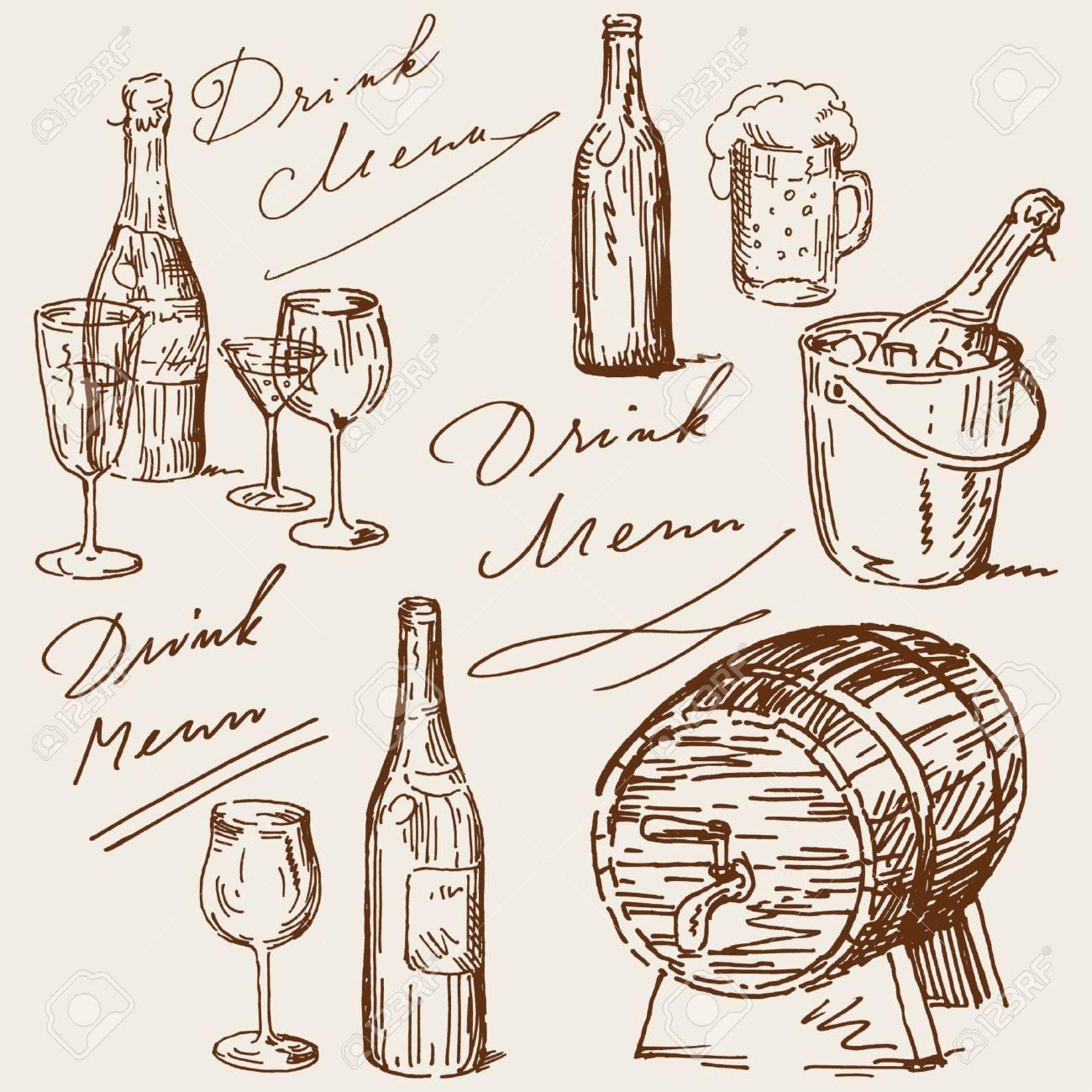 drink menu Stock Vector - 14097731
