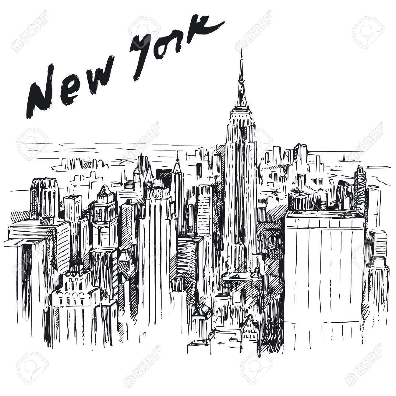 New York - hand drawn illustration Stock Vector - 18989583