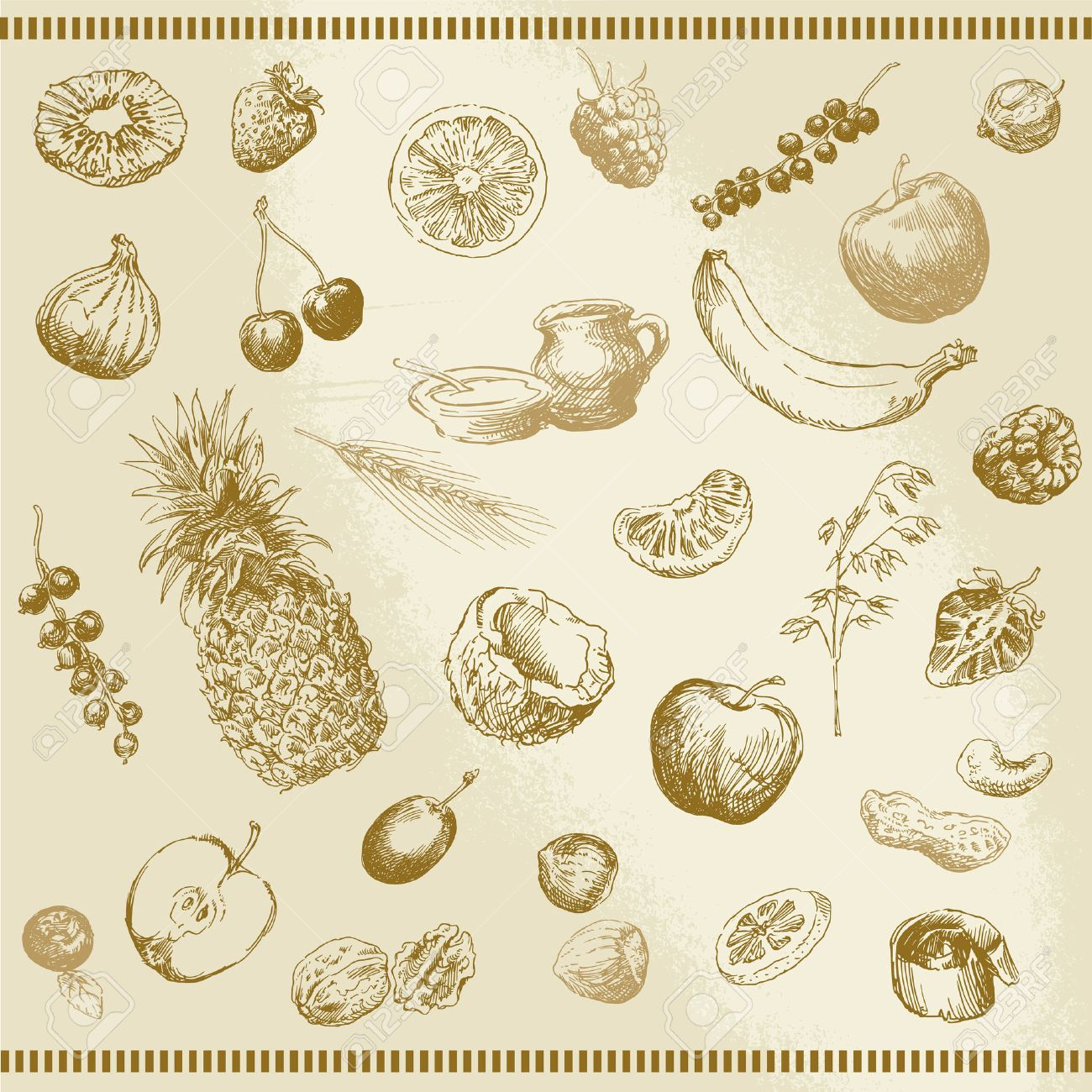 hand drawn fruit collection - 29449440