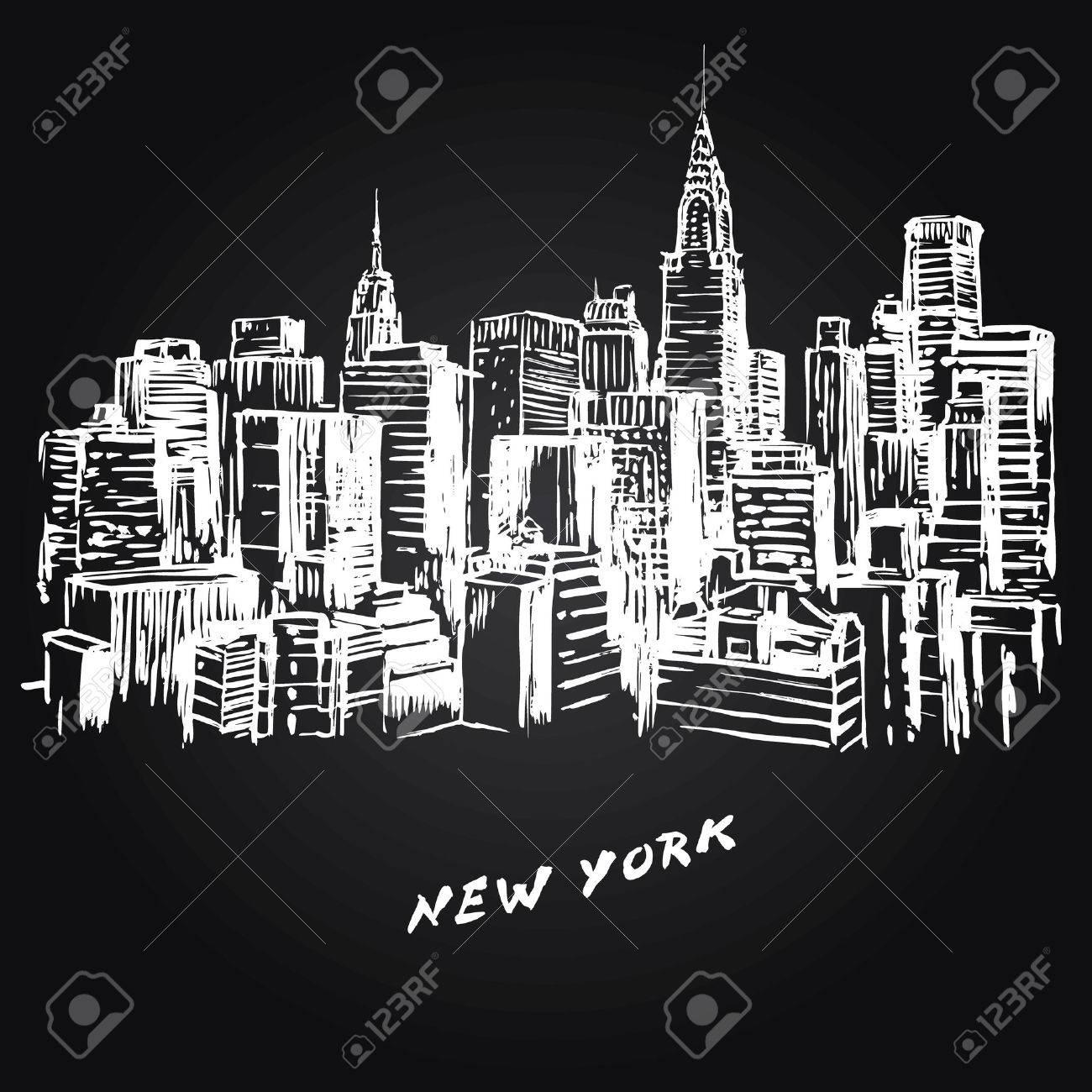 New York - hand drawn illustration - 29452965