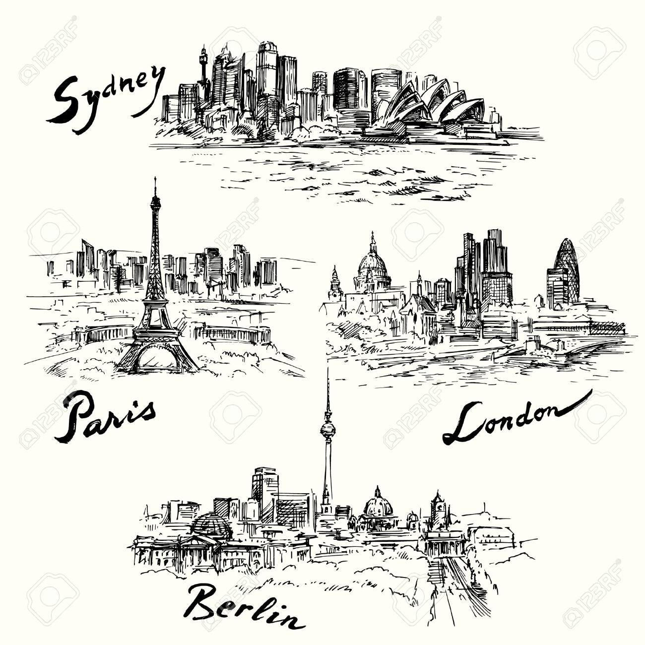 Paris, Berlin, London, Sydney Standard-Bild - 31366392