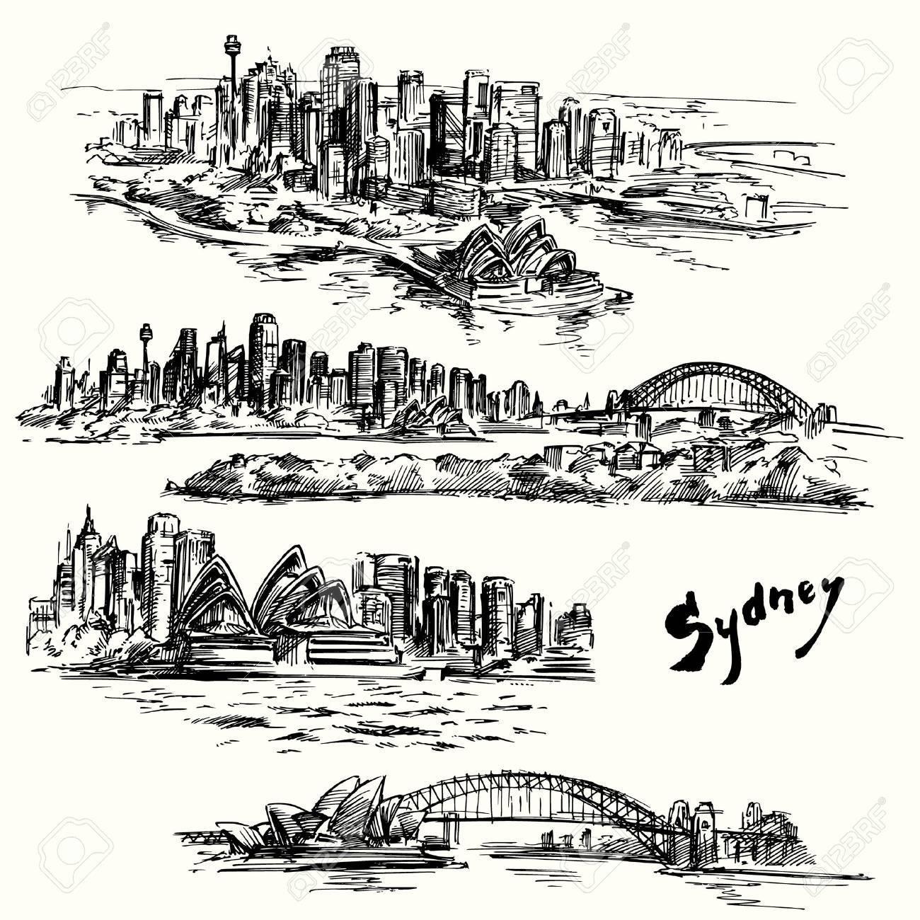 Sydney - hand drawn collection - 33809125