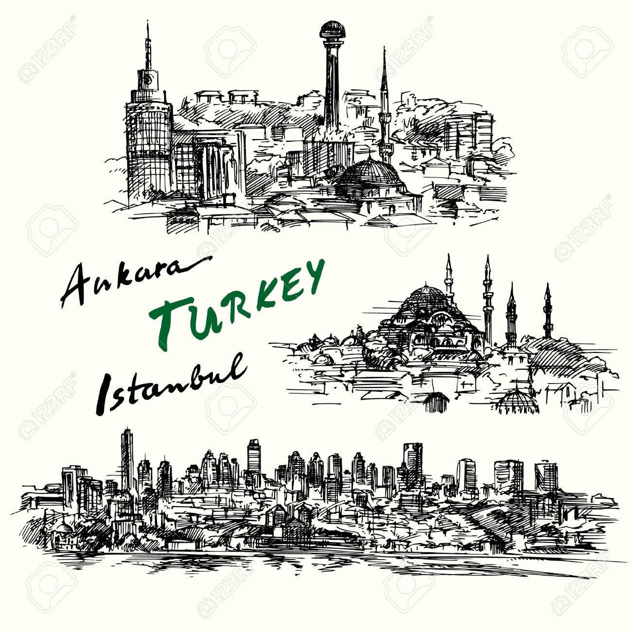 Turkey - hand drawn collection - 37679228