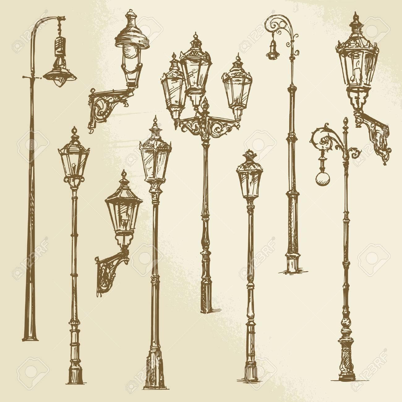 Street lamp set - 38742589
