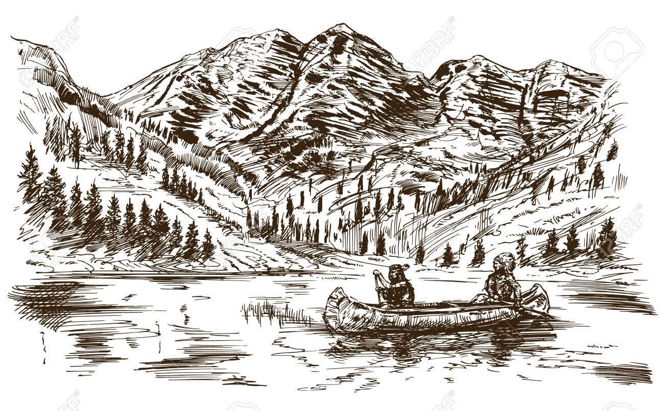 Wild west. Hand drawn illustration. - 71827372