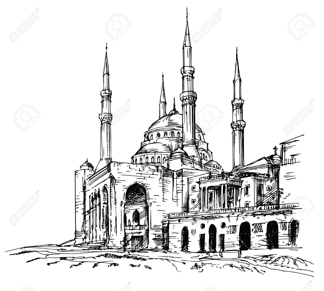 Mohammad Al-Amin Mosque in Beirut, Lebanon. - 123169260