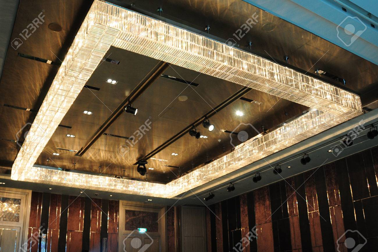 Rectangle Chandelier In Auditorium Photo Picture And – Rectangle Chandelier