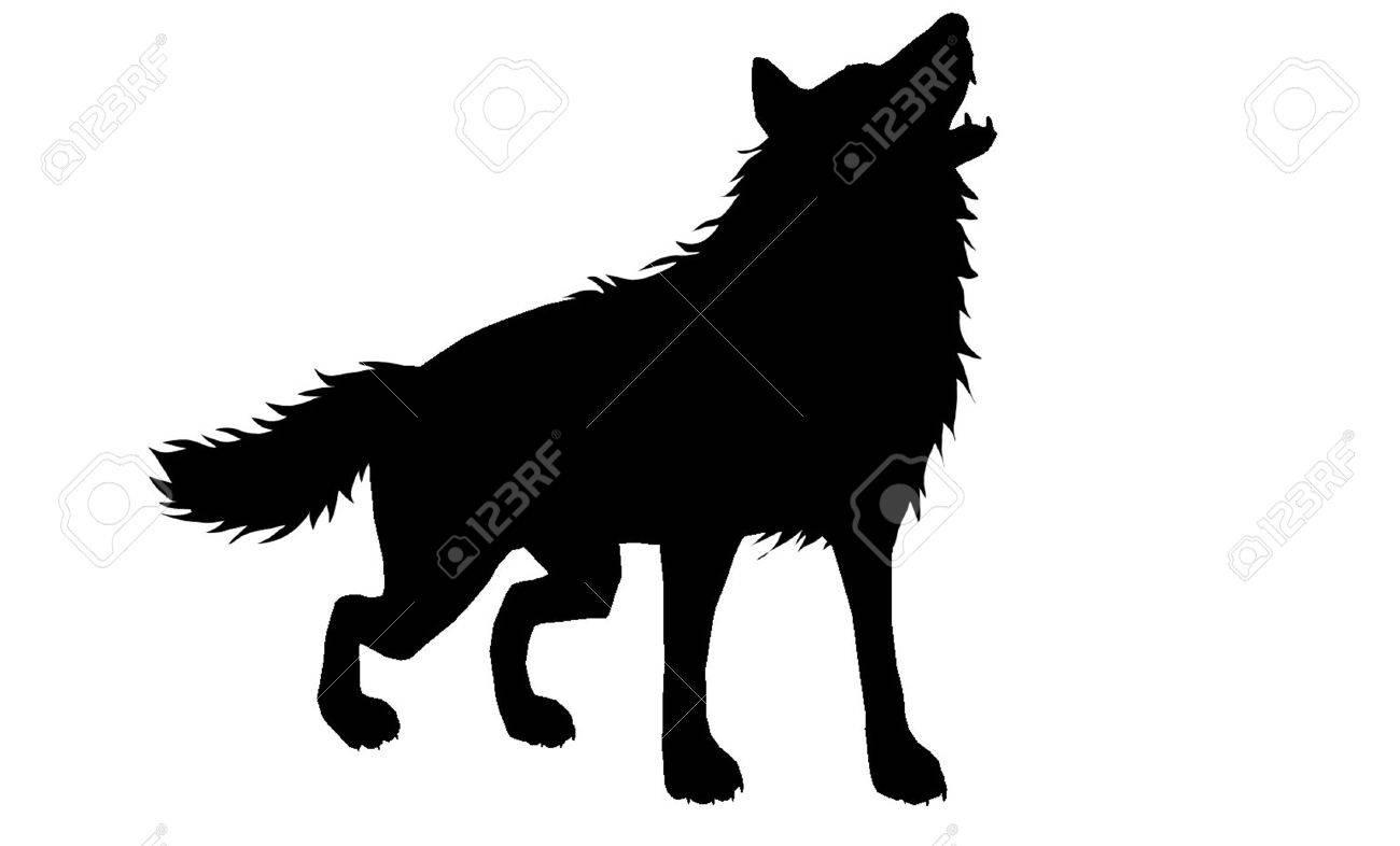 狼のシルエット 3 のイラスト素材 ベクタ Image