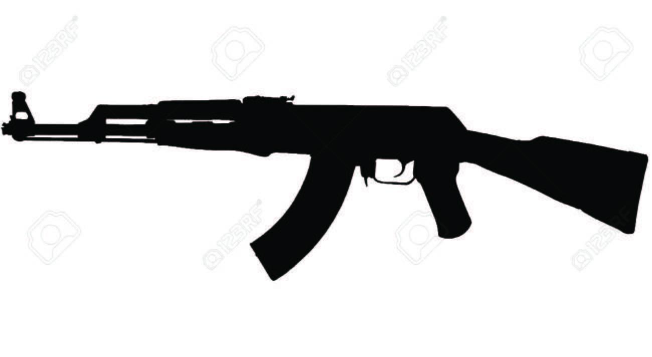 ak47 assault riffle silhouette royalty free cliparts vectors and rh 123rf com ak47 vector art ak 47 vector png