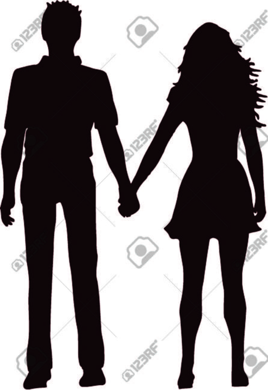 couple silhouette 9 royalty free cliparts vectors and stock