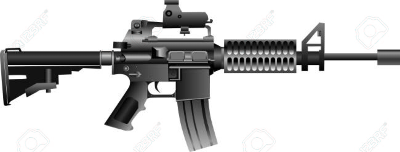 vector - m4 carbine assault rifle illustration royalty free cliparts,  vectors, and stock illustration. image 109142621.  123rf