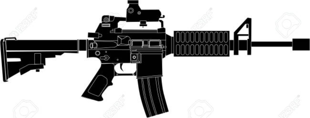 m4 rifle drawing black illustration royalty free cliparts, vectors, and  stock illustration. image 109142620.  123rf