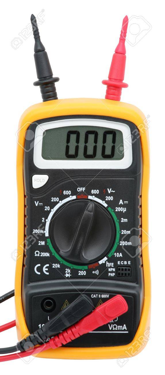 Digital multimeter isolated on white. Stock Photo - 12377530
