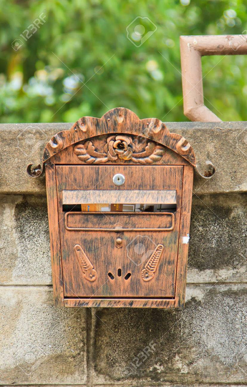 stock photo beautiful vintage letter box