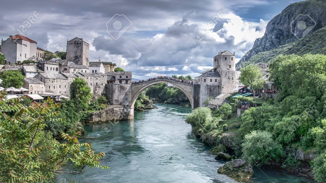 Mostar, Bosnia Herzegovina - May 1, 2014: Stari Most bridge in Mostar - 62799550