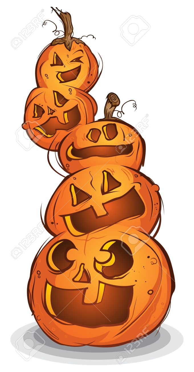 Pile of carved halloween pumpkins cartoon characters royalty free pile of carved halloween pumpkins cartoon characters stock vector 20992160 altavistaventures Choice Image
