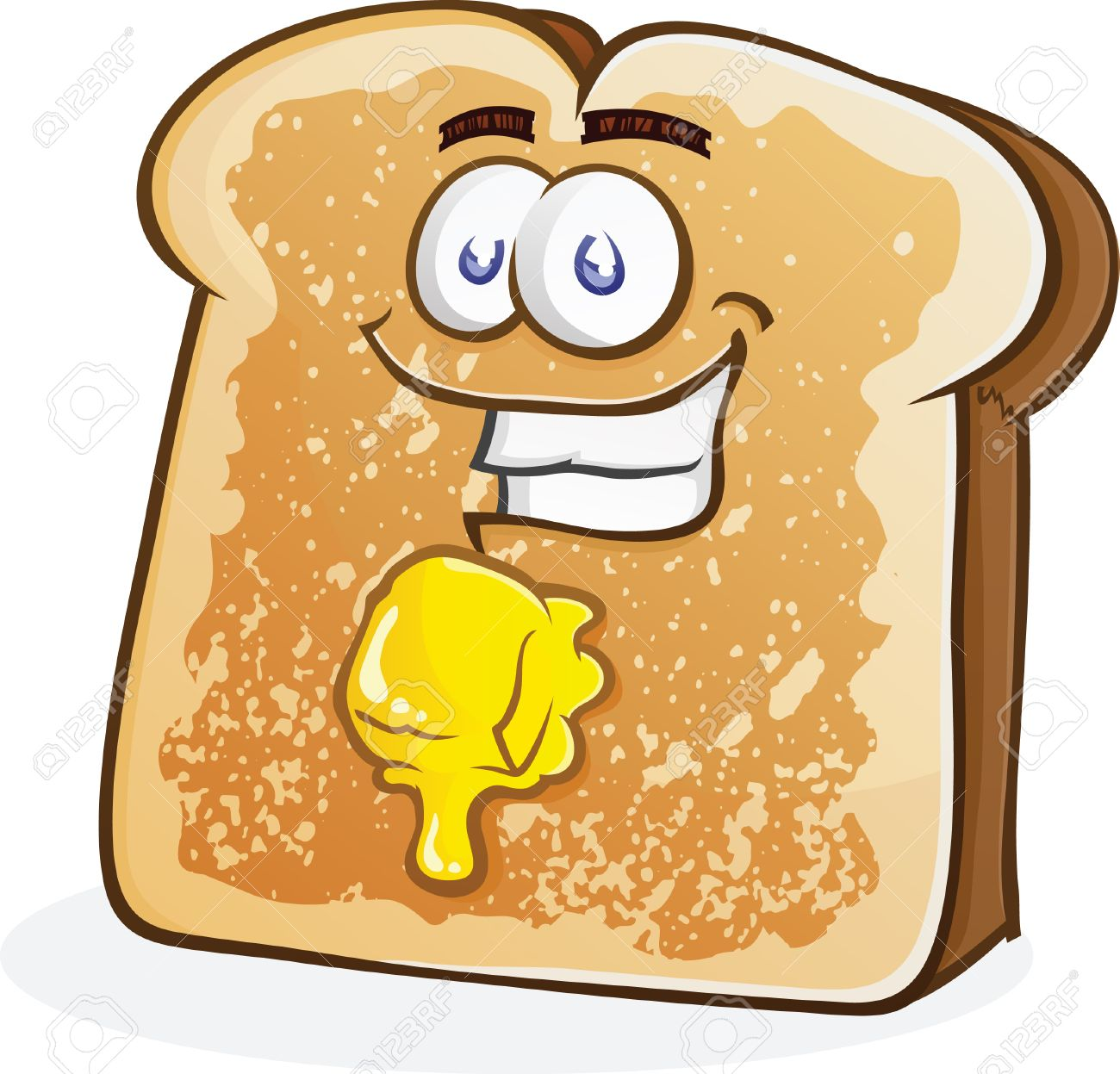 Buttered Toast Cartoon Character Stock Vector - 26740270