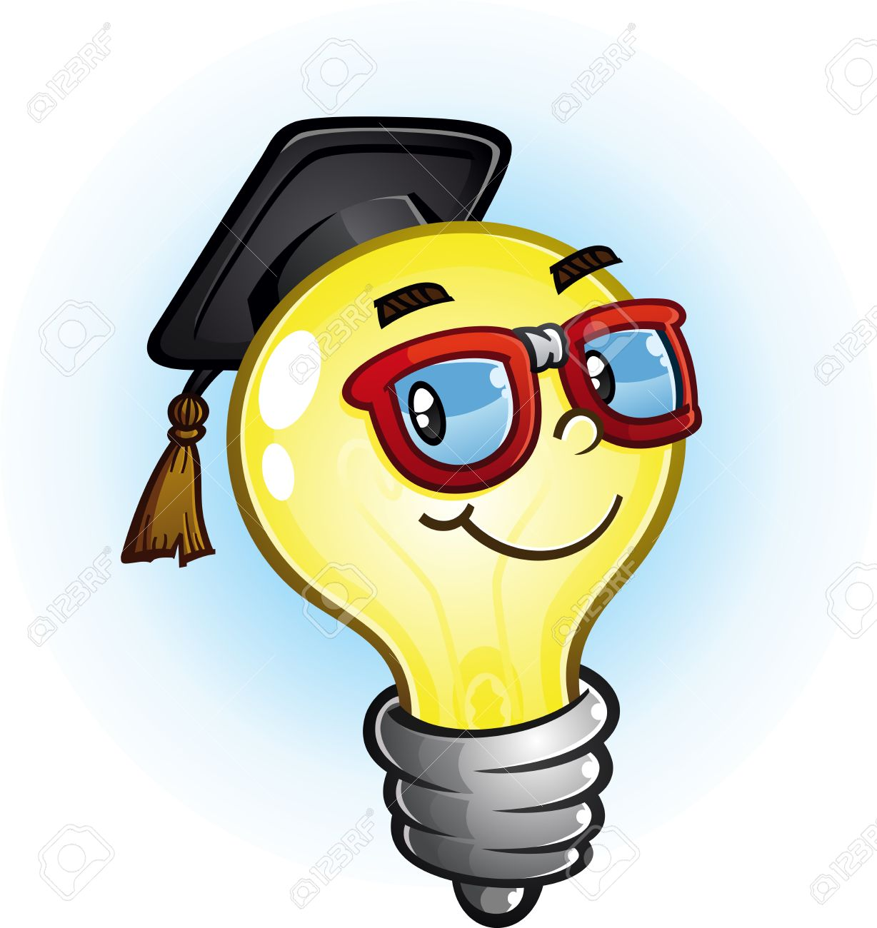 Light Bulb Education Cartoon Character Royalty Free Cliparts Vectors And Stock Illustration Image 33468446