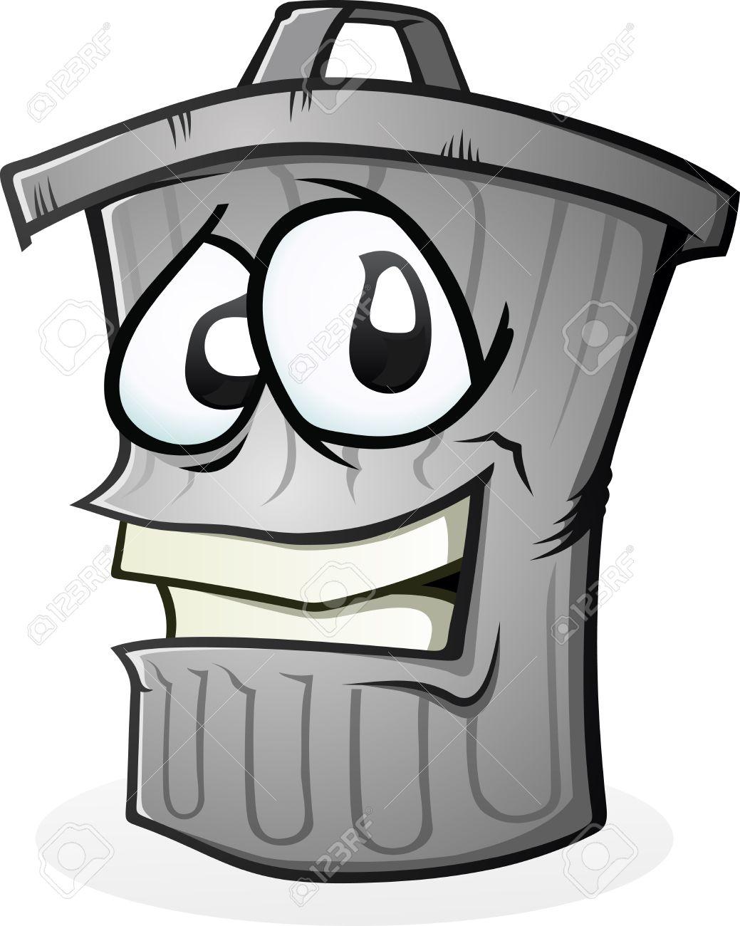 Trash Can Clean Cartoon Character - 35517115