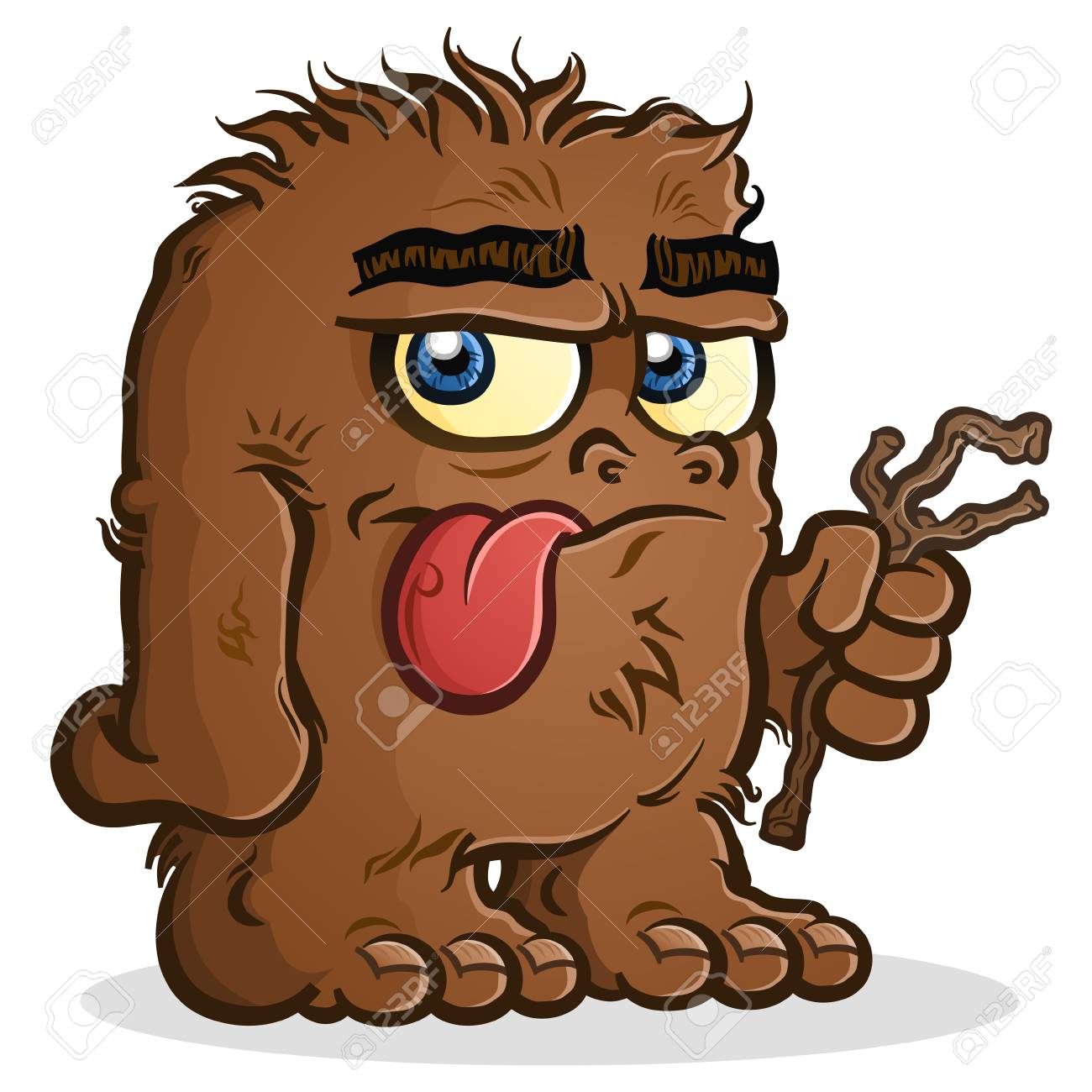 Bigfoot Sasquatch Cartoon Character With A Nonchalant Expression Royalty Free Cliparts Vectors And Stock Illustration Image 117260597