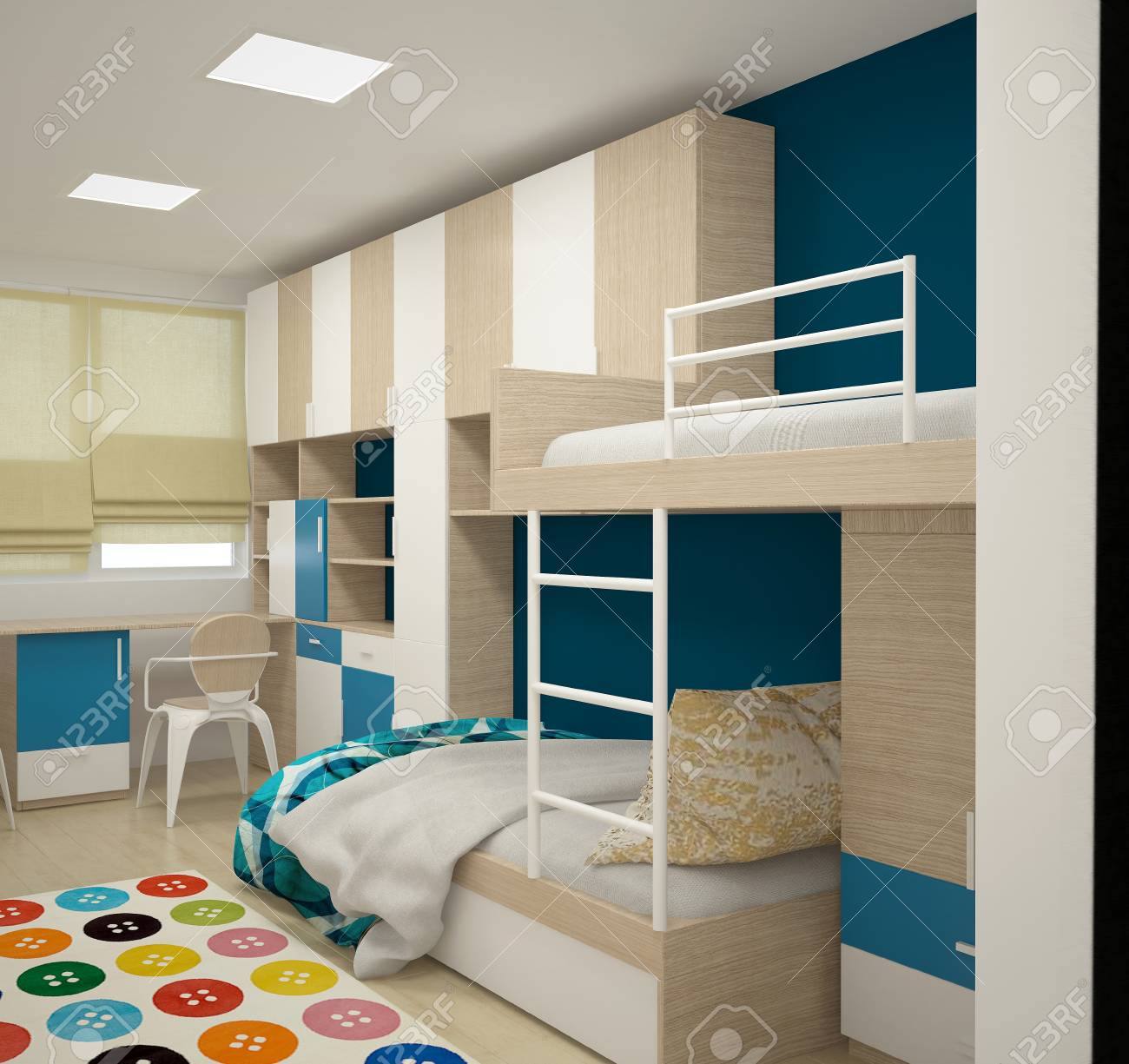 3d Rendering Of A Children S Room Interior Design Stock Photo Picture And Royalty Free Image Image 88367269