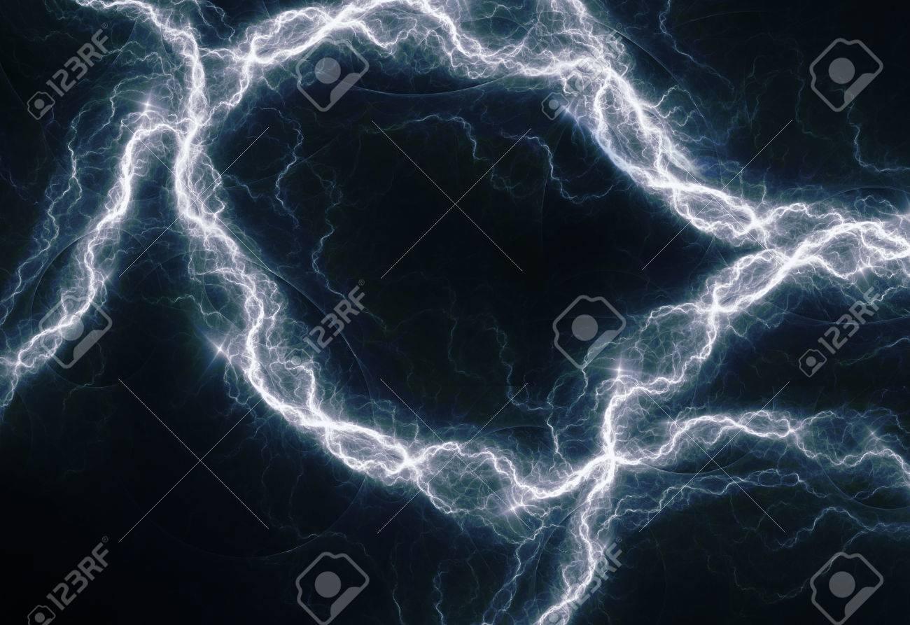Blaue Elektrische Beleuchtung, Abstrakte Elektrische Hintergrund ...