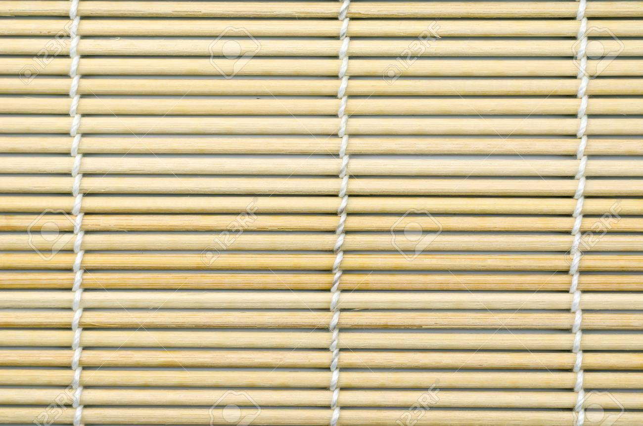 Bambusmatte Fur Sushi Rolle Japanisches Essen Kann Als Textur