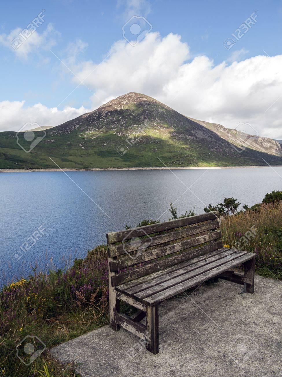 a summer seat beside silent valley reservoir Stock Photo - 22088665