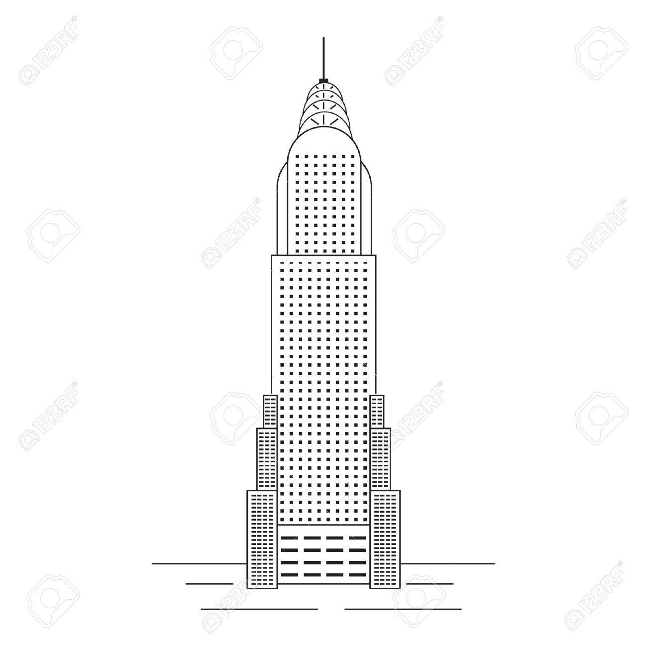 chrysler building royalty free cliparts vectors and stock rh 123rf com chrysler building vector free Chrysler Building at Night