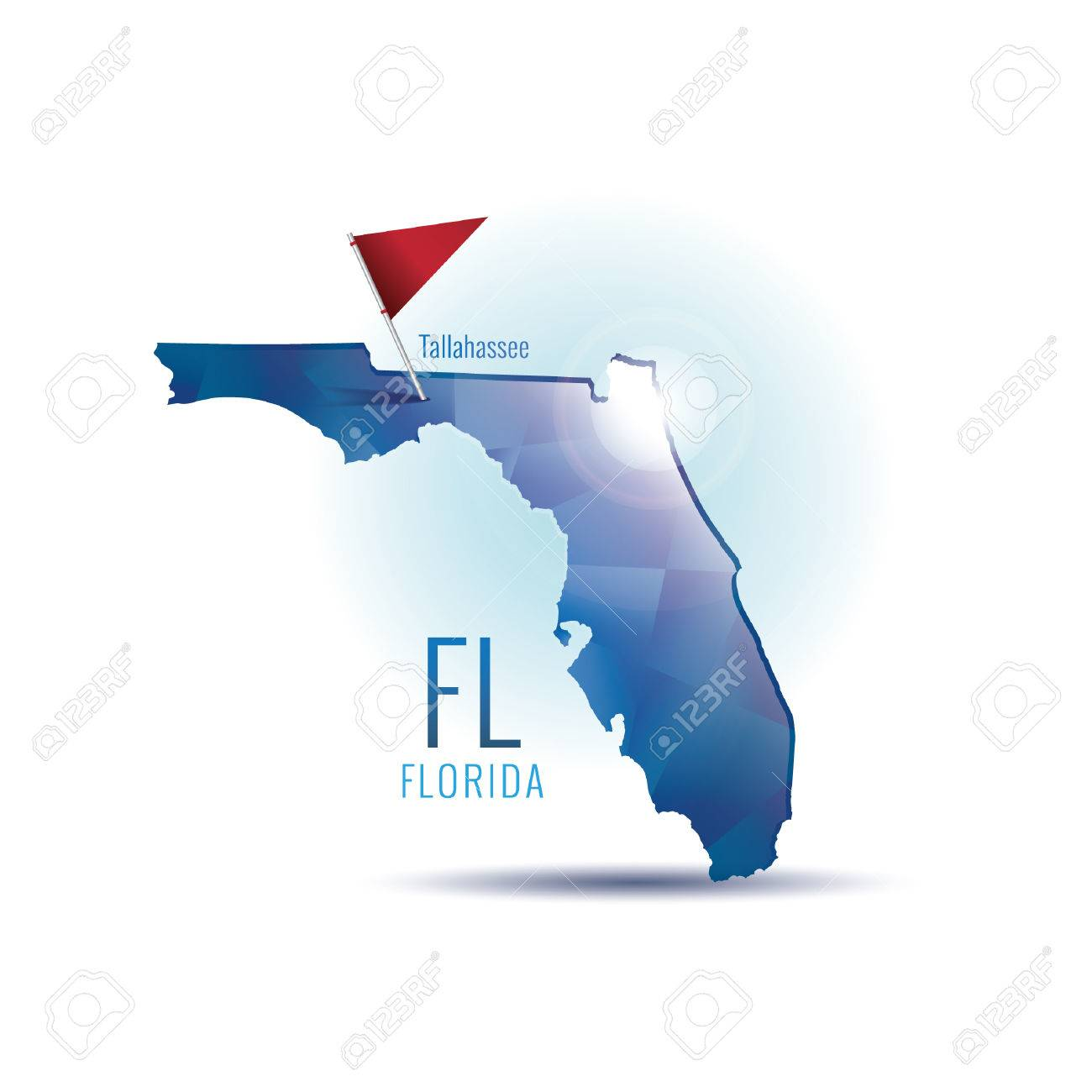 Florida Map With Capital City Royalty Free Cliparts Vectors And - Florida map capital