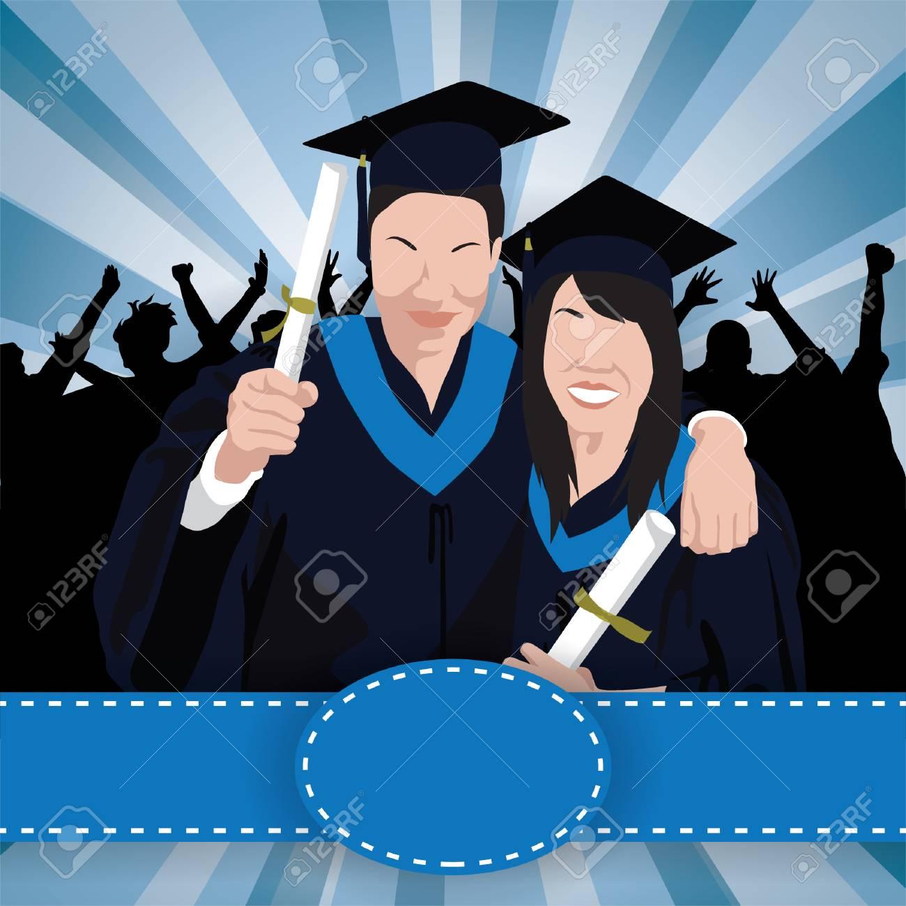 卒業壁紙のイラスト素材 ベクタ Image 43308906
