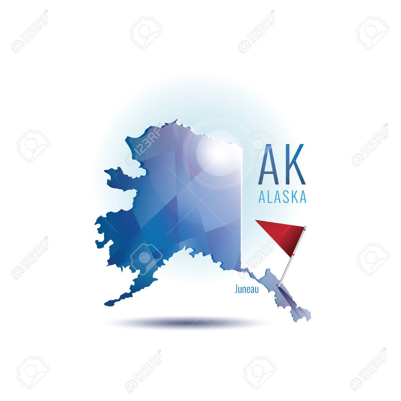 Alaska Map With Capital City Royalty Free Cliparts Vectors And