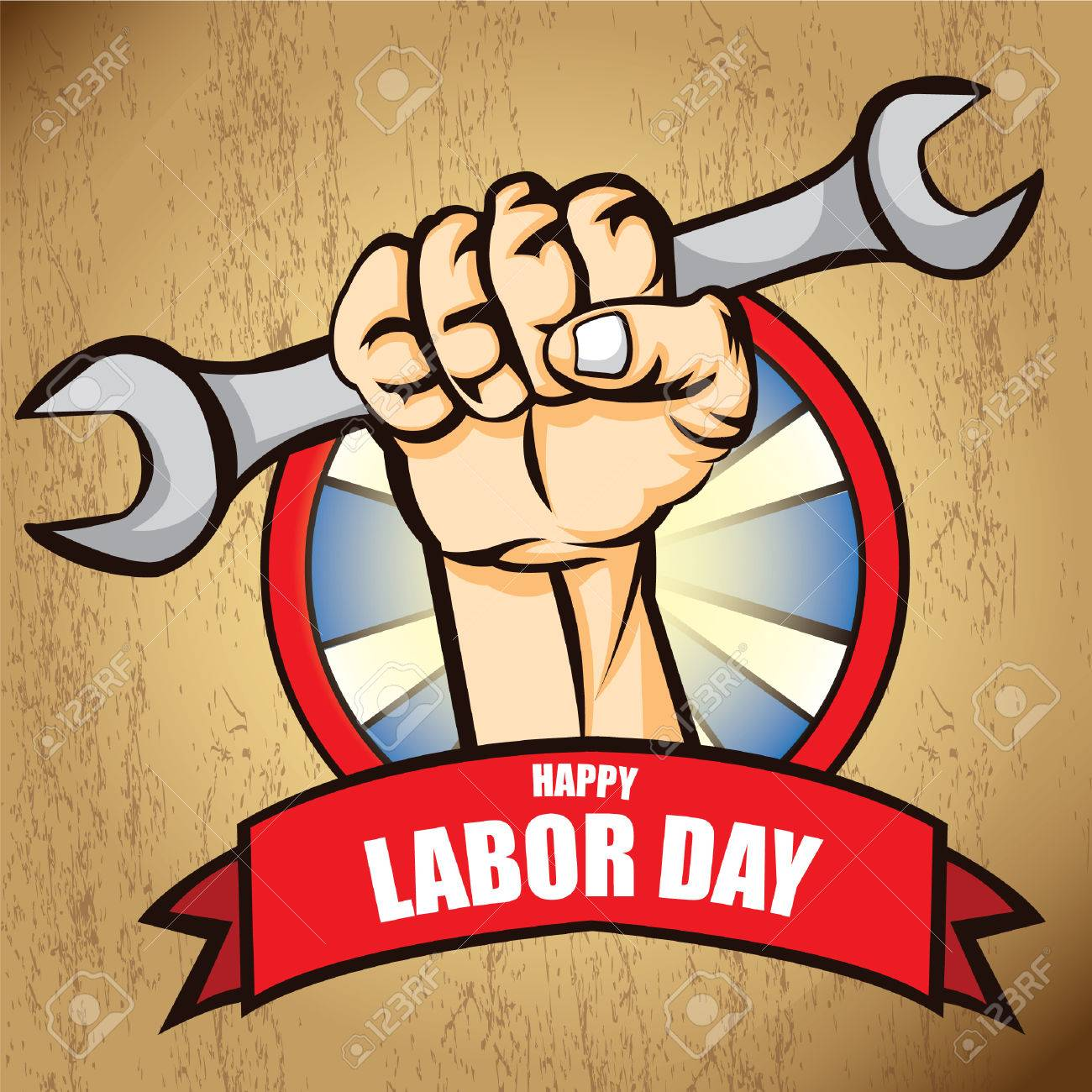 Happy Labor Day Poster Royalty Free Cliparts, Vectors, And Stock ...