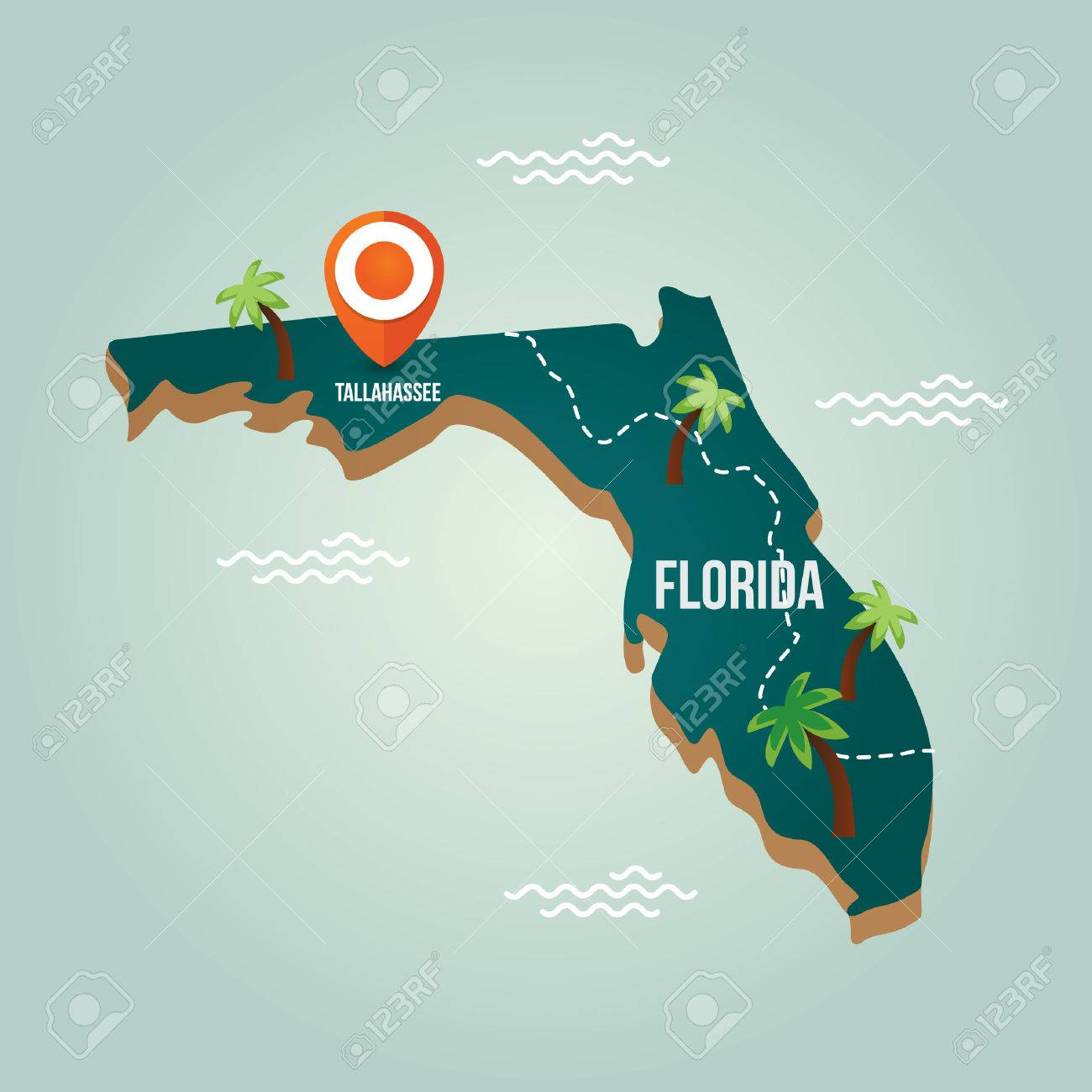 Map Of Florida FDOT I Rest Areas PDE Study Biking The Florida - Florida map showing cities