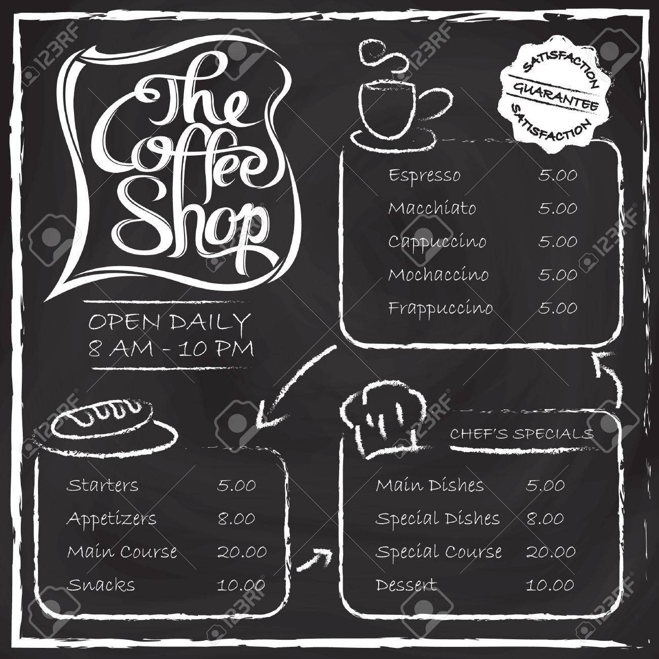 the coffee shop menu royalty free cliparts, vectors, and stock