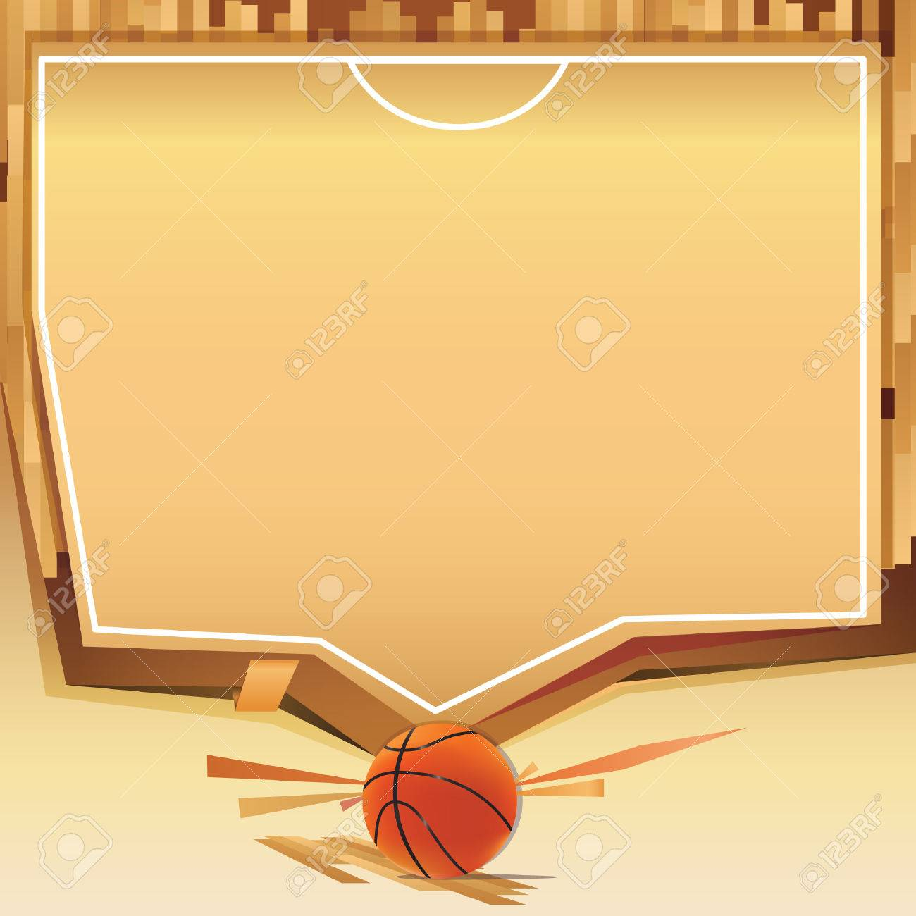 Basketball Court Template Royalty Free Cliparts Vectors And Stock