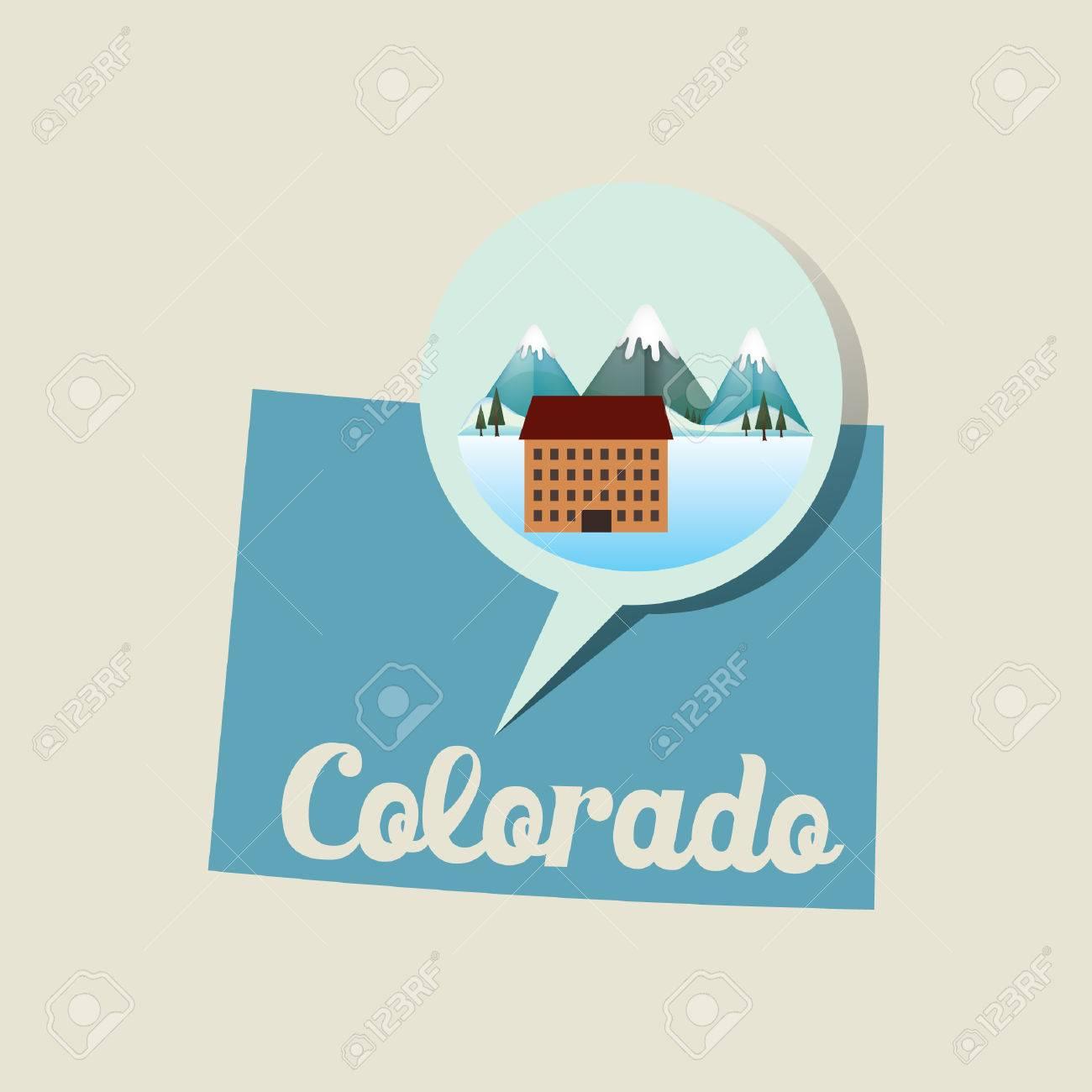 Colorado Map With Ski Resort Icon Royalty Free Cliparts, Vectors ...