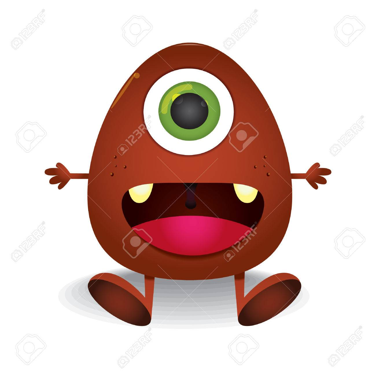 Cute One Eyed Monster Royalty Free Cliparts Vectors And Stock Illustration Image 43238677
