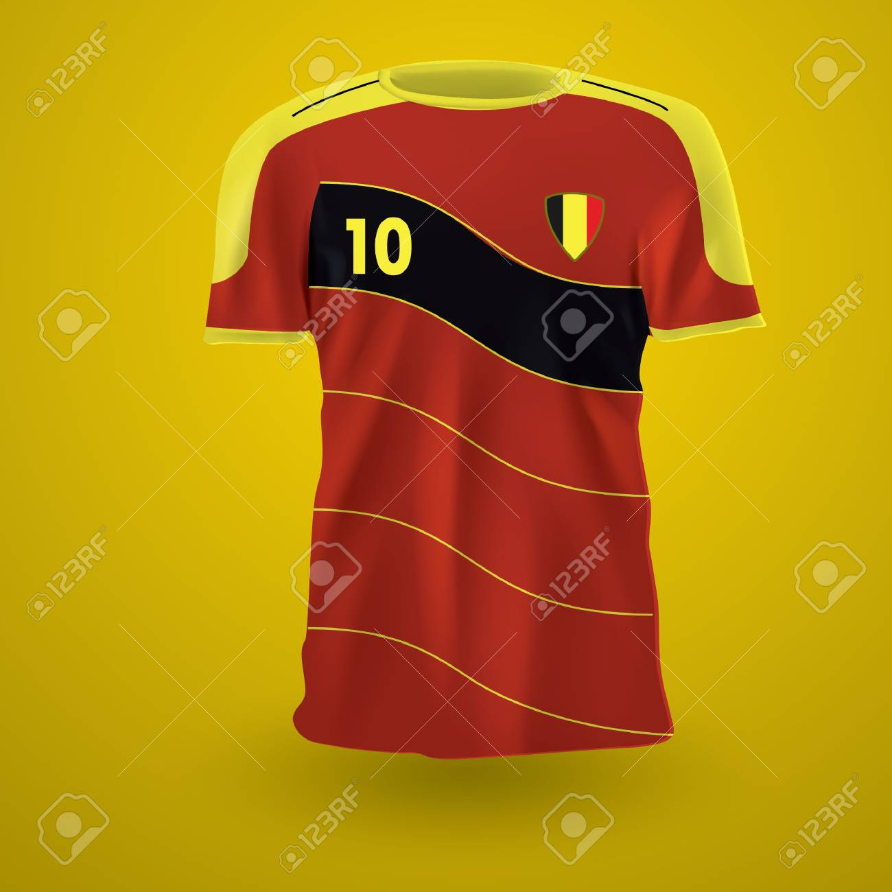 3a48af16954 Belgium Soccer Jersey Royalty Free Cliparts, Vectors, And Stock ...