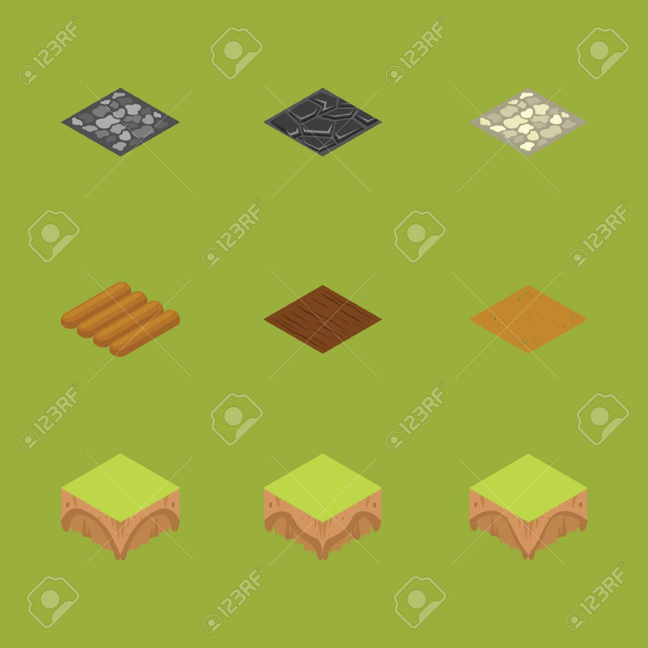Isometrische Boden Und Bodentexturen Lizenzfrei Nutzbare