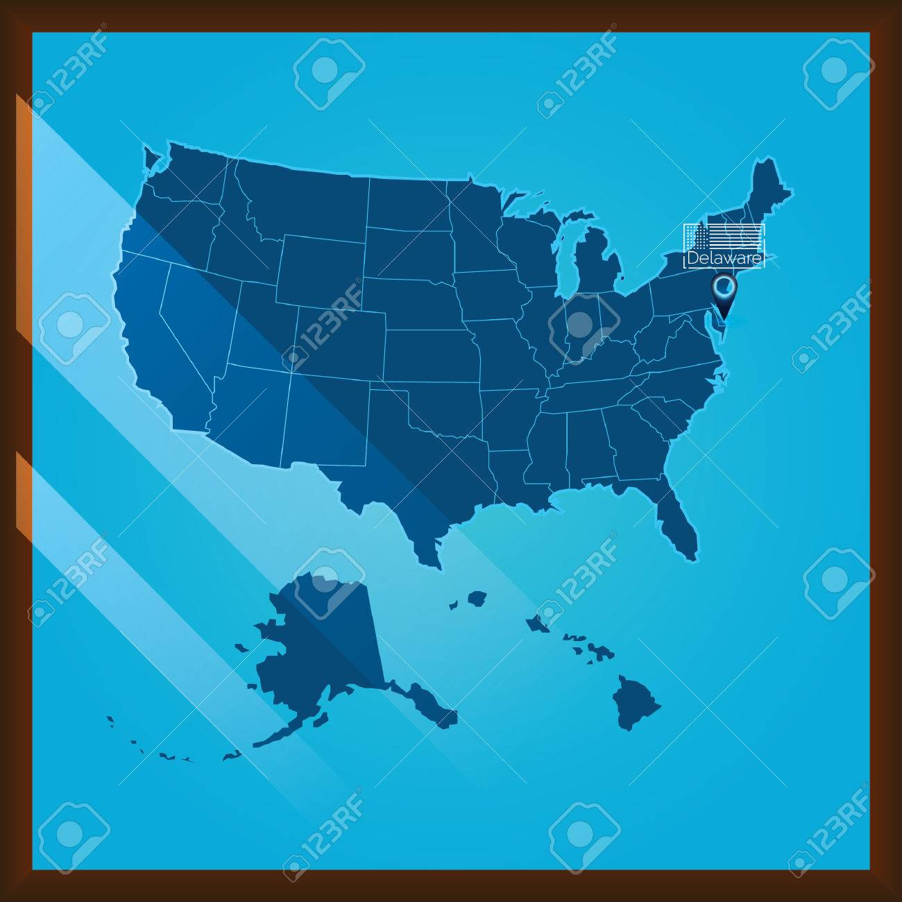 Delaware On The Us Map - Delaware on a us map